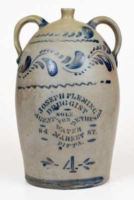 Very Unusual BETHESDA WATER / PITTSBURGH Stoneware Advertising Jug