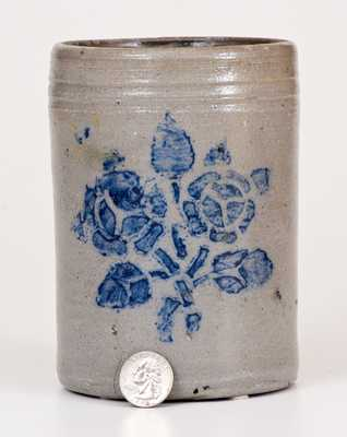 Small-Sized Western PA Stoneware Canning Jar w/ Stenciled Floral Decoration