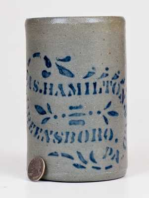 Small-Sized JAS. HAMILTON & CO. / GREENSBORO, PA Stoneware Canning Jar