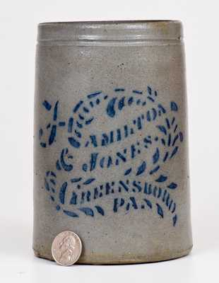 Small-Sized HAMILTON & JONES / GREENSBORO, PA Stoneware Canning Jar