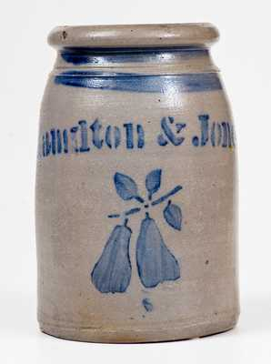 Hamilton & Jones (Greensboro, PA) Stoneware Pears Canning Jar