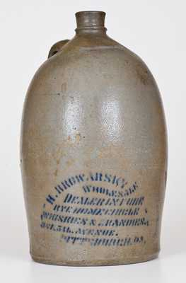 1 Gal. PITTSBURG Stoneware Advertising Jug