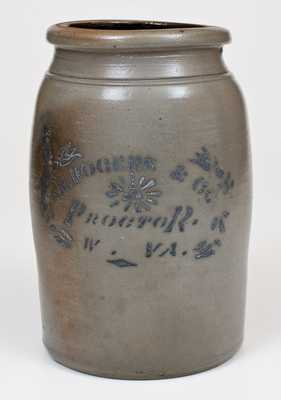Stoneware Jar with PROCTOR, W. VA Stenciled Advertising