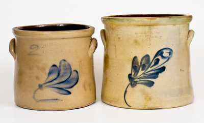 Lot of Two: New York State Stoneware Crocks: ADAM CAIRE and J. FISHER