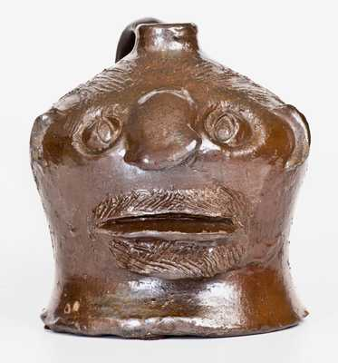 Rare and Fine Stoneware Face Jug att. Charles P. Ferguson, Barrow County, Georgia
