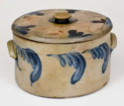 Richard Remmey, Philadelphia, PA Stoneware Butter Crock Paired w/ Decorated Lid