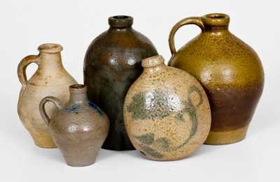 Lot of Five: Assorted Stoneware incl. European and Twentieth-Century Examples