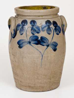 2 Gal. Stoneware Jar with Floral Decoration, Baltimore, MD, circa 1870