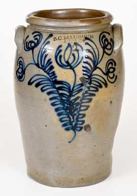 Fine B. C. MILBURN / ALEXA. Stoneware Jar with Slip-Trailed Floral Decoration