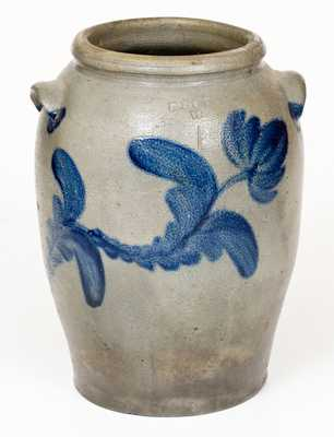 Rare R. BUTT / W Washington, DC Stoneware Jar with Floral Decoration