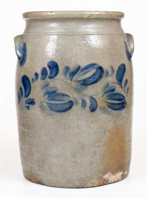 3 Gal. Stoneware Jar with Floral Decoration attrib. Beaver, PA