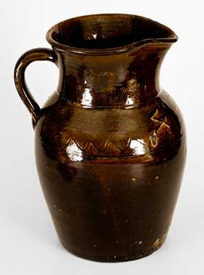 Outstanding Timmerman Pottery, Lanier County, GA Inscribed Stoneware Pitcher