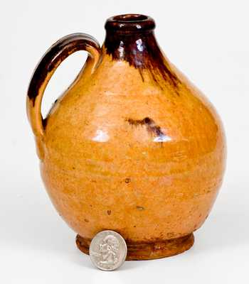 Finely-Glazed New England Redware Jug