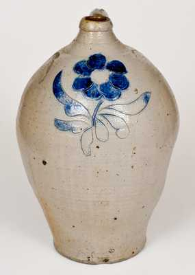 Fine Crolius Stoneware Jug with Incised, Coggled, and Impressed Floral Decoration