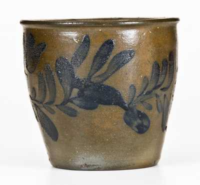 Fine Small-Sized Stoneware Jar att. J. Swank, Johnstown, PA w/ Profuse Decoration