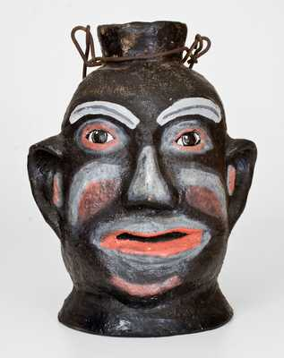 Rare Painted Face Jug, North Wilkesboro, NC, origin, circa 1925