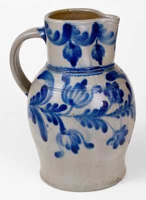 H.C. SMITH / ALEXA / D.C. Boldly-Decorated Stoneware Pitcher