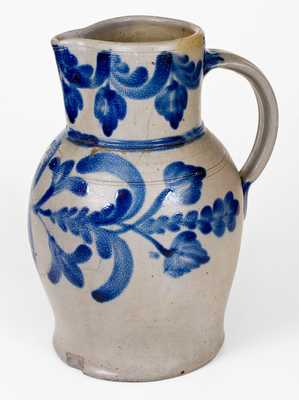 Outstanding 2 Gal. H. C. SMITH / ALEXA. / D.C. Stoneware Pitcher w/ Profuse Decoration