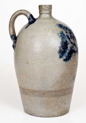 Very Rare and Important Baltimore Stoneware Jug w/ Tree, probably Thomas Chandler, c1829