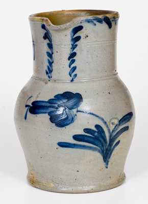 Att. S. Irvine, Newville, PA 1/2 Gal. Stoneware Pitcher with Floral Decoration