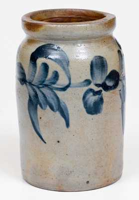 1/4 Gal. Stoneware Jar with Floral Decoration, Philadelphia, PA