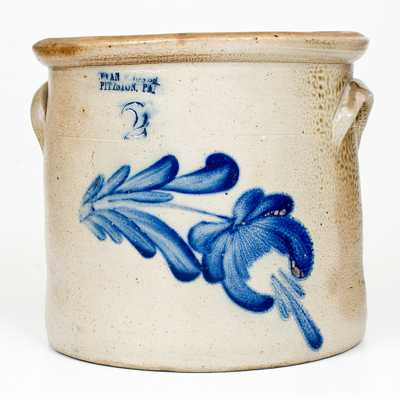 EVAN R. JONES / PITTSTON, PA Stoneware Crock with Floral Decoration