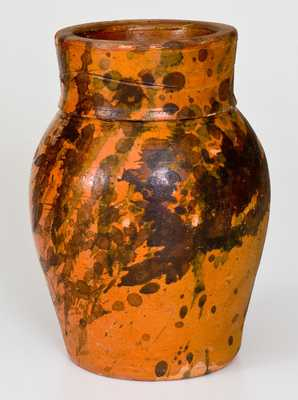 Scarce WINCHESTER VA Redware Vase by Thedy Fleet, Round Hill Pottery
