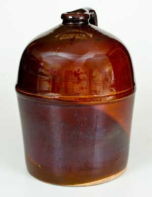 PEORIA POTTERY (Illinois) Jug, MEYER BROS & CO. / WHOLESALE DRUGGISTS / ST. LOUIS, MO