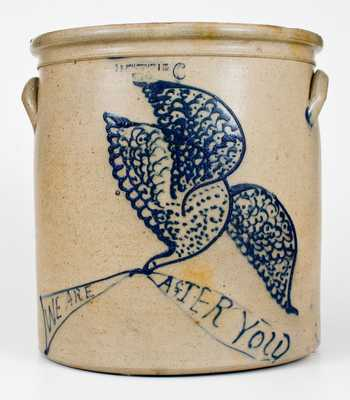 Exceedingly Rare and Important J.B. PFALTZGRAFF / YORK, PA Eagle Crock w/ Civil War Inscription