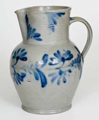 1 Gal. Stoneware Pitcher with Floral Decoration, Philadelphia, PA, circa 1850