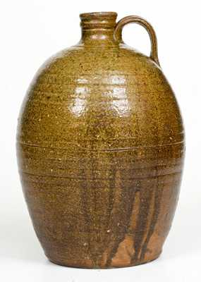 1 Gal. Stoneware Jug attrib. Lucius Jordan, Washington County, GA, third-quarter 19th Century