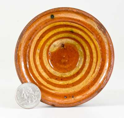 Very Unusual Miniature Redware Bowl for
