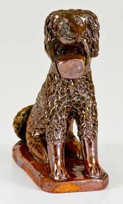 Redware Toy Seated Spaniel Figure