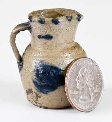 Extremely Rare Decorated Small-Sized Toy Stoneware Pitcher, possibly West Virginia