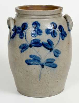 3 Gal. Baltimore, MD Stoneware Jar with Floral Decoration