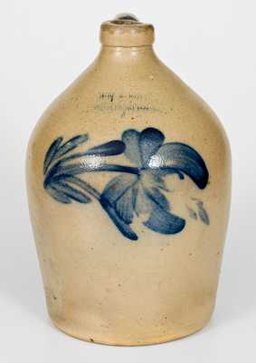 COWDEN & WILCOX / HARRISBURG Stoneware Jug with Floral Decoration