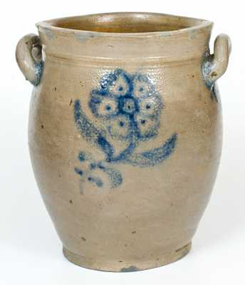 2 Gal. Stoneware Jar with Floral Decoration, probably Manhattan, circa 1800