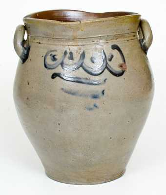 3 Gal. Stoneware Jar with Swag Decoration, probably New Jersey, circa 1800