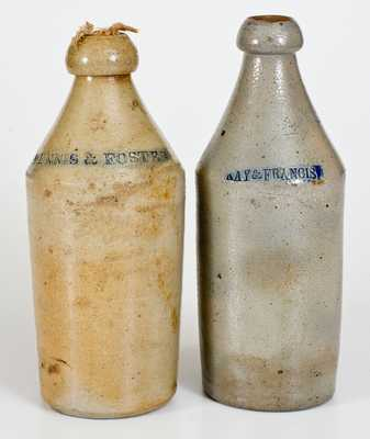 Lot of Two: Stoneware Bottles incl. Dated 1852 Example