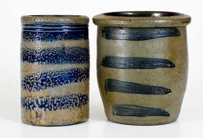 Lot of Two: Western PA Stoneware Jars with Striped Decoration