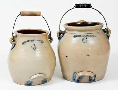 Lot of Two: BINGHAMTON, NY Stoneware Batter Pails