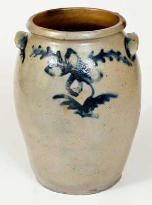2 Gal. Baltimore Stoneware Jar with Fine Floral Decoration, circa 1820