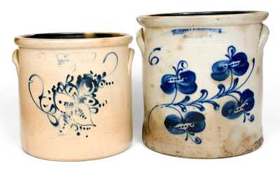 Lot of Two: Decorated New York State Stoneware Crocks