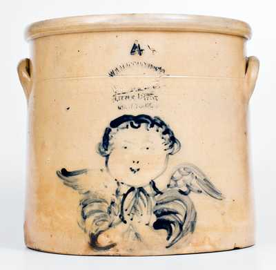Outstanding W. A. MACQUOID & CO. / NEW YORK Stoneware Angel Crock