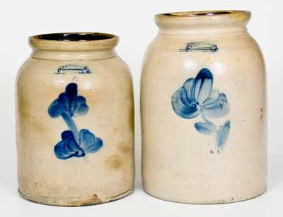 Lot of Two: A. E. SMITH & SONS / PECK SLIP, NY Stoneware Jars