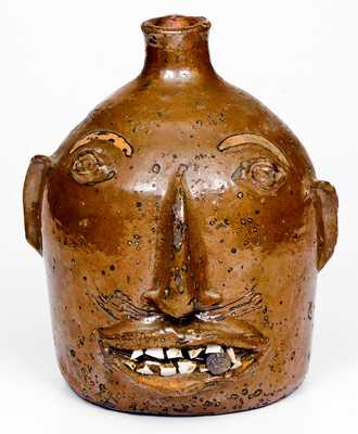 Fine Stoneware Face Jug attributed to Otto Brown