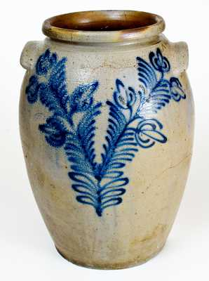 5 Gal. B. C. MILBURN / ALEXA. Stoneware Jar with Profuse Slip-Trailed Floral Decoration