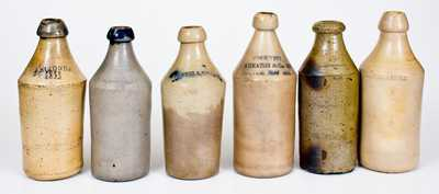 Lot of Six: Dated Stoneware Bottles