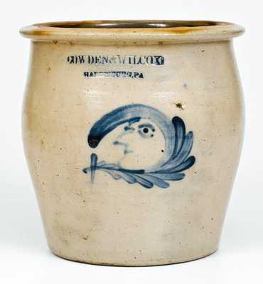 Fine COWDEN & WILCOX / HARRISBURG, PA Man-in-the-Moon Jar