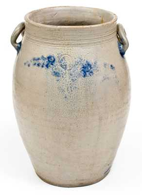 Exceedingly Rare and Important PARR & BURLAND (Baltimore) Stoneware Jar